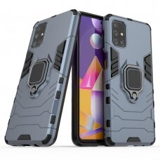 """Dėklas su žiedu """"Ring Armor Case"""" skirta Samsung Galaxy M31S mėlynas"""