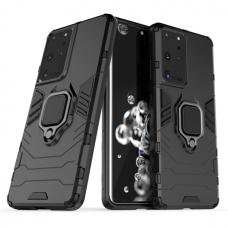 """Dėklas su žiedu """"Ring Armor Case"""" Samsung Galaxy S21 Ultra 5G juodas"""