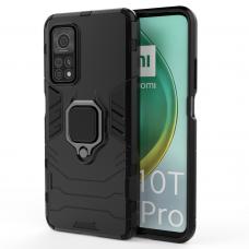 Dėklas Ring Armor Case Kickstand Tough Rugged Xiaomi Mi 10T Pro / Mi 10T Juodas