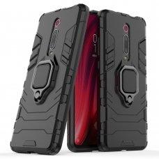 """Apsauginis dėklas su žiedu """"Ring Armor Rugged"""" Xiaomi Mi 9T / Xiaomi Mi 9T Pro juodas (ske52)"""