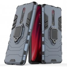 "Apsauginis dėklas su žiedu ""Ring Armor Rugged"" Xiaomi Mi 9T / Xiaomi Mi 9T Pro mėlynas (ske52) UCS127"