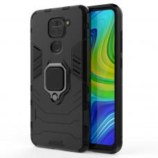 Tvirtas Dėklas Su Žiedu-Stoveliu 'Ring Armor Case Kickstand' Xiaomi Redmi 10X 4G / Xiaomi Redmi Note 9 Juodas