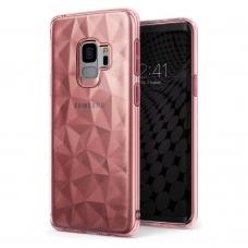 """""""Ringke Air Prism Glitter"""" Tpu Dėklas Iškiliu Paviršiumi """"Ultra-Thin 3D"""" Samsung Galaxy S9 G960 Rožinis  (Apsg0018-Rpkg)"""
