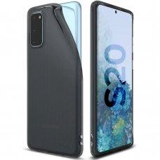 """Apsauginis gelinis dėklas """"Ringke Air Ultra-Thin"""" Samsung Galaxy S20 juodas (ARSG0024) (lqn04)"""