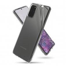 """Apsauginis gelinis dėklas """"Ringke Air Ultra-Thin"""" Samsung Galaxy S20 Plus permatomas (ARSG0025) (nqt31) UCS002"""