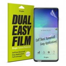 """Apsauginės Ekrano Plėvelės 2X """"Ringke Dual Easy"""" Samsung Galaxy S10 (Essg0008-Rpkg)"""