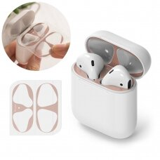 Ringke Dust Guard Sticker for Apple AirPods 2 / AirPods 1 charging base (2 pcs set) rožinis (ACER0003)  (ctz220)
