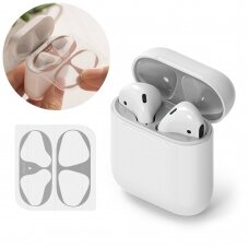 Ringke Dust Guard Sticker for Apple AirPods 2 / AirPods 1 charging base (2 pcs set) sidabrinis (ACER0001)  (ctz220)