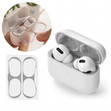 Ringke Dust Guard Sticker skirta Apple Airpods Pro Charging Base (2 Pcs Set) Sidabrinis (Acer0004)