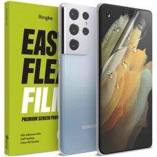 Ringke Easy Flex 2x wet mounted apsauginės ekrano plėvelės Samsung Galaxy S21 Ultra 5G (E10F038) (case friendly)