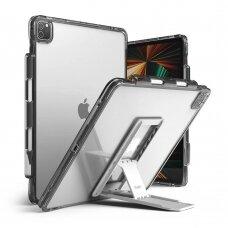 Dėklas Ringke Fusion Combo Outstanding su kojele TPU iPad Pro 12.9'' 2021 Pilkas / Permatomas  (FPC530R40)