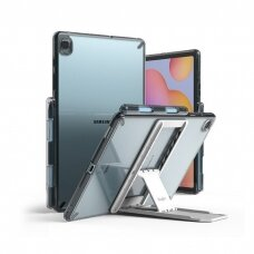 Dėklas Ringke Fusion Combo Outstanding su kojele TPU frame for Samsung Galaxy Tab S6 Lite Pilkas (FC447R40)