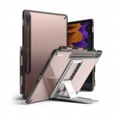 Dėklas Ringke Fusion Combo Outstanding su kojele TPU Samsung Galaxy Tab S7+ (S7 Plus) Pilkas (FC476R40)