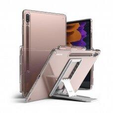 Dėklas Ringke Fusion Combo Outstanding su kojele TPU Samsung Galaxy Tab S7+ (S7 Plus) Permatomas (FC476R39)