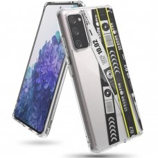 Dėklas Ringke Fusion Design PC Case with TPU Bumper for Samsung Galaxy S20 FE 5G Juodas (Ticket band) (GNSG0022)