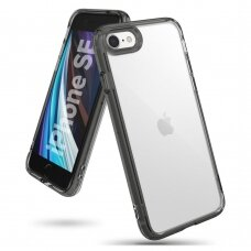 Ringke Fusion PC dėklas sutvirtintais TPU kraštais iPhone SE 2020 / iPhone 8 / iPhone 7 juodas (FSAP0051) UCS062