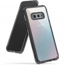 """Tpu Ir Pc Dėklas Sutvirtintais Kraštais """"Ringke Fusion"""" Samsung Galaxy S10E Juodas (Fssg0062-Rpkg)"""