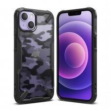 Dėklas Ringke Fusion X Design iPhone 13 juodas
