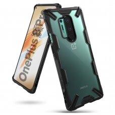 Ringke Fusion X apsauginis PC dėklas su TPU bamperiu OnePlus 8 Pro juodas (XDOP0005)