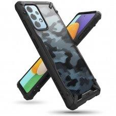 Dėklas Ringke Fusion X Design durable PC + TPU Samsung Galaxy A52 5G Camo Juodas (XDSG0047)