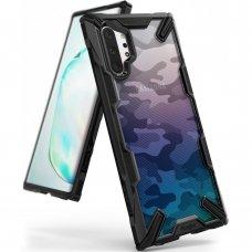"""Smūgiams Atsparus Pc Plastiko Dėklas Su Tpu Sutvirtintais Šonais """"Ringke Fusion X Design"""" Samsung Galaxy Note 10 Plus Juodas (Xdsg0020)"""
