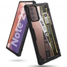"""Apsauginis Dėklas """"Ringke Fusion X""""  Pc Plastikas + Tpu Kraštai Samsung Galaxy Note 20 Juodas (Xdsg0037)"""