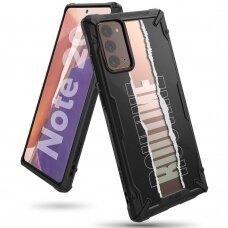 """Apsauginis Dėklas """"Ringke Fusion X""""  Pc Plastikas + Tpu Kraštai Samsung Galaxy Note 20 Juodas (Xdsg0038)"""