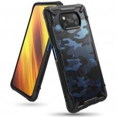 """Apsauginis Plastikinis Dėklas """"Ringke Fusion X Durable"""" Xiaomi Poco X3 Nfc Camo Juodas (Xdxi0017)"""