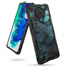 Ringke Fusion X Design Apsauginis Pc Dėklas Sutvirtintais Tpu Kraštais Xiaomi Redmi K30 Pro / Poco F2 Pro Juodas Kamufliažas (Xdxi0009)