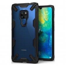 """Smūgiams Atsparus Pc Plastiko Dėklas Su Tpu Sutvirtintais Šonais """"Ringke Fusion X Design"""" Huawei Mate 20 Juodas (Fxhw0009-Rpkg)"""