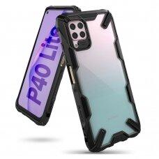 """APSAUGINIS PLASTIKINIS DĖKLAS """"RINGKE FUSION X DURABLE"""" Huawei P40 Lite juodas (FUSG0057)"""