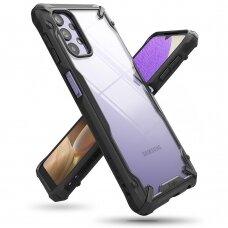 Dėklas Ringke Fusion X durable PC Case su TPU Bumperiu Samsung Galaxy A32 5G Juodas (FUSG0071)