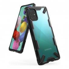 """Apsauginis plastikinis dėklas """"Ringke Fusion X durable"""" Samsung Galaxy A51 juodas (FUSG0037) (lop20)"""