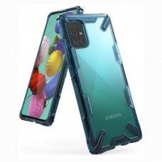 """Apsauginis plastikinis dėklas """"Ringke Fusion X durable"""" Samsung Galaxy A51 mėlynas (FUSG0038) (lop20)"""