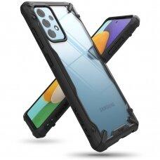 Dėklas Ringke Fusion X durable PC + TPU Samsung Galaxy A52 5G Juodas (FUSG0069)