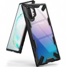 """Smūgiams Atsparus Pc Plastiko Dėklas Su Tpu Sutvirtintais Šonais """"Ringke Fusion X Design"""" Samsung Galaxy Note 10 Plus Juodas (Fusg0029)"""