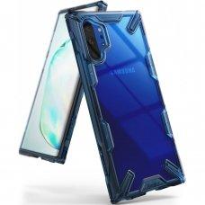 """Smūgiams Atsparus Pc Plastiko Dėklas Su Tpu Sutvirtintais Šonais """"Ringke Fusion X Design"""" Samsung Galaxy Note 10 Plus Mėlynas (Fusg0030)"""