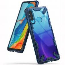 """Smūgiams Atsparus Pc Plastiko Dėklas Su Tpu Sutvirtintais Šonais """"Ringke Fusion X Design"""" Xiaomi Mi 9T Pro / Mi 9T Mėlynas (Fxxi0004)"""