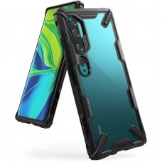 "Apsauginis plastikinis dėklas ""Ringke Fusion X durable"" Xiaomi Mi Note 10 / Mi Note 10 Pro / Mi CC9 Pro juodas (FXXI0013) (goe85) UCS103"