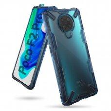 Ringke Fusion X apsauginis PC dėklas sutvirtintais TPU kraštais Xiaomi Redmi K30 Pro / Poco F2 Pro mėlynas (FXXI0023) UCS108