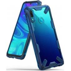 """Smūgiams Atsparus Pc Plastiko Dėklas Su Tpu Sutvirtintais Šonais """"Ringke Fusion X Design"""" Xiaomi Redmi Note 7 Mėlynas (Fxxi0007)"""