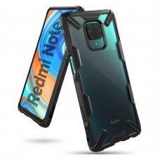 Apsauginis dėklas 'Ringke Fusion X durable' PC plastikas + TPU kraštai Xiaomi Redmi Note 9 Pro / Redmi Note 9S juodas (FXXI0020)