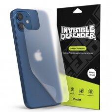 Ringke ID Back Matte Film 2x juoda galinio dangtelio apsauginė plėvelė iPhone 12 mini (IDAP0004)