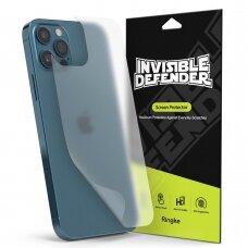 Ringke ID Back Matte Film 2x juoda galinio dangtelio apsauginė plėvelė iPhone 12 Pro / iPhone 12 (IDAP0005)
