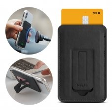 Ringke Multi Card Holder Credit Card Wallet Mini Pouch Multifunctional Attachment Stand skirta Smartphones Black (Acfc0024)