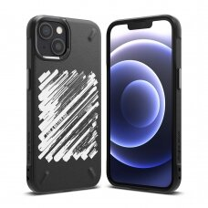 Dėklas Ringke Onyx Design Durable TPU iPhone 13 mini Juodas (Paint) (OD541E229)