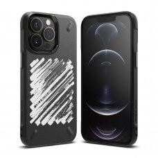 Dėklas Ringke Onyx Design Durable TPU iPhone 13 Pro Juodas (Paint) (OD551E229)