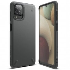 Dėklas Ringke Onyx Durable TPU Case Cover for Samsung Galaxy A12 Pilkas (OXSG0052)