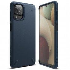 Dėklas Ringke Onyx Durable TPU Case Cover for Samsung Galaxy A12 Tamsiai mėlynas (OXSG0051)