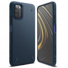 Dėklas Ringke Onyx Durable TPU Case Cover for Xiaomi Poco M3 Tamsiai mėlynas (OXXI0002)